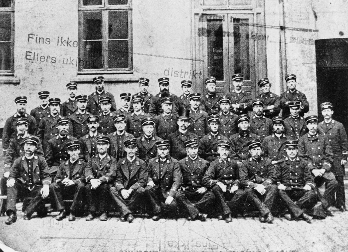 gruppebilde, Oslo, postbudene i Oslo, 41 menn