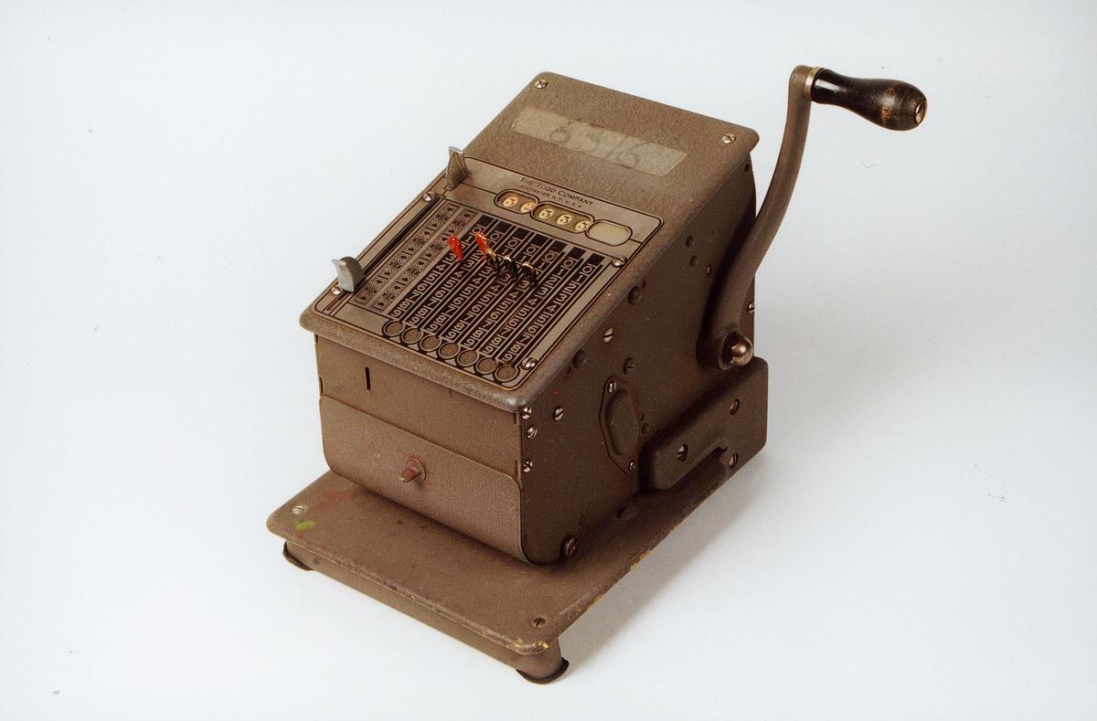 Postmuseet, gjenstander, sikringsmaskin, Todd 245 NR6532.