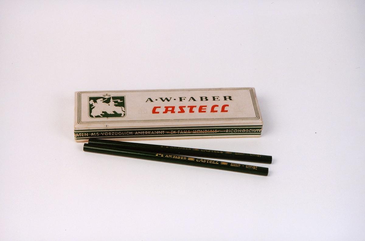 postmuseet, gjenstander, blyanter, kopiblyanter i eske