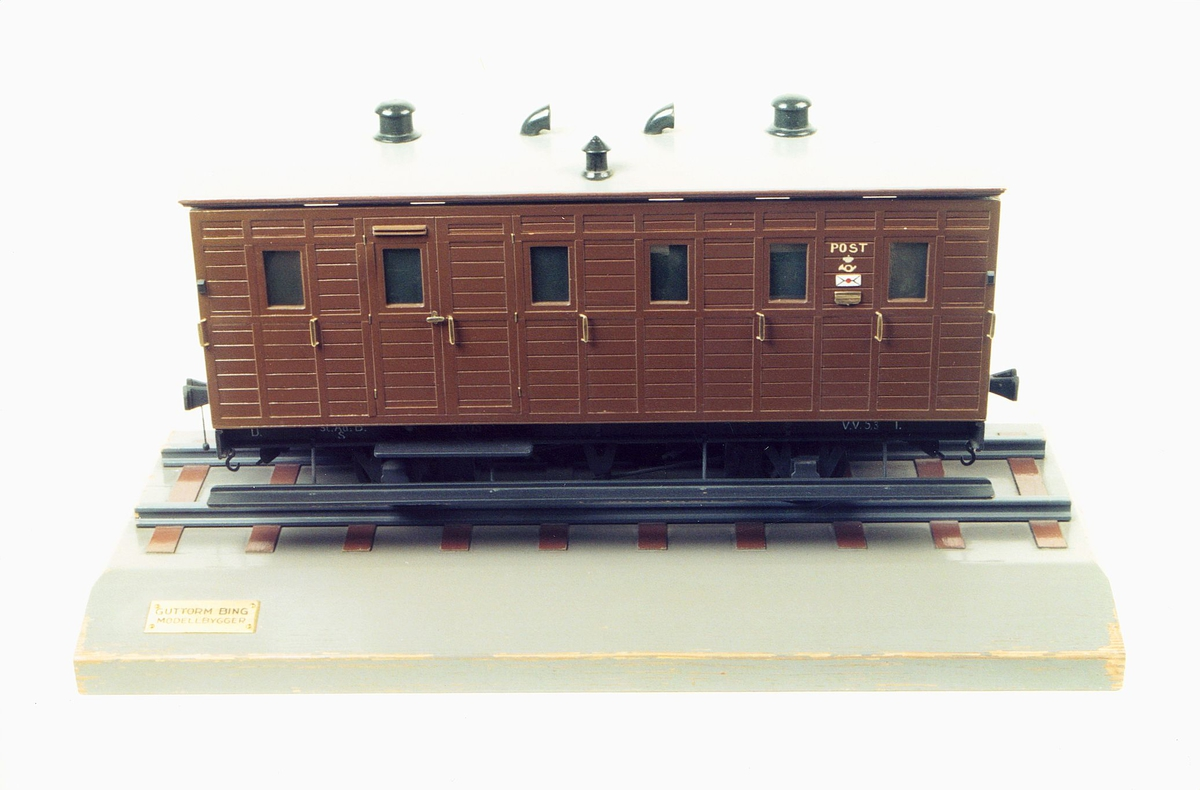 postmuseet, gjenstander, modell av tog postvogn