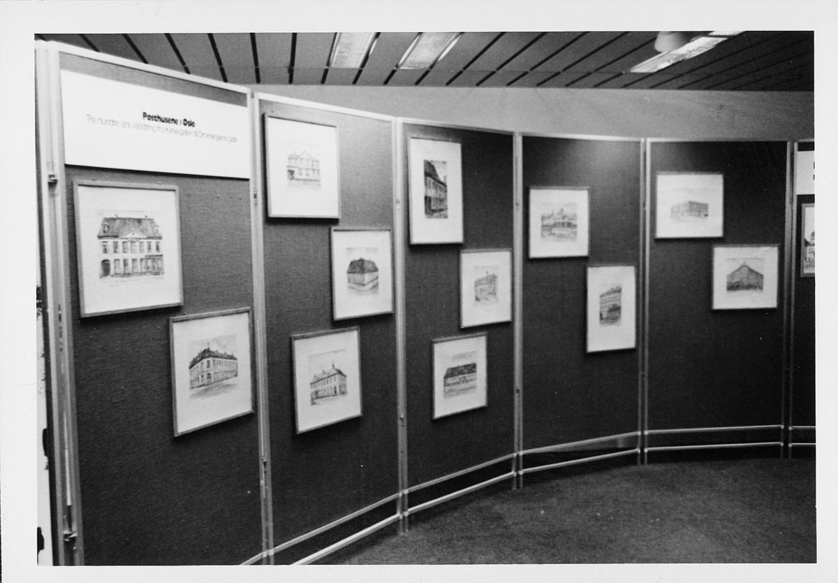 markedsseksjonen, Oslo postgård 50 år, utstilling, bilder av postkontorer i Oslo