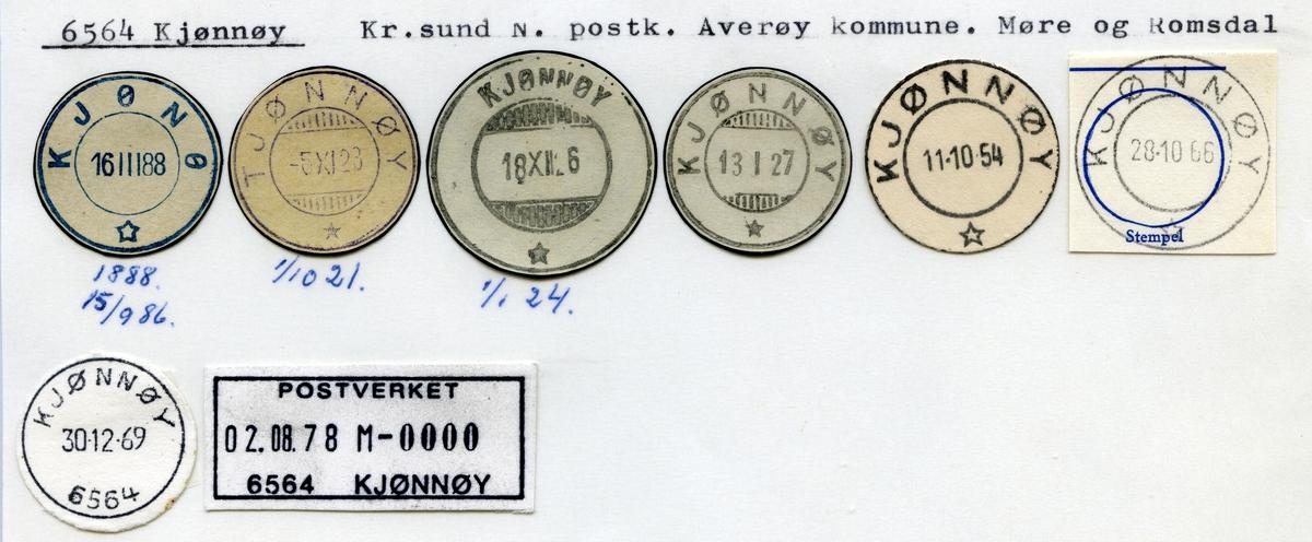 Stempelkatalog 6564 Kjønnøy (Kjønø), Kristiansund, Averøy, Møre og Romsdal