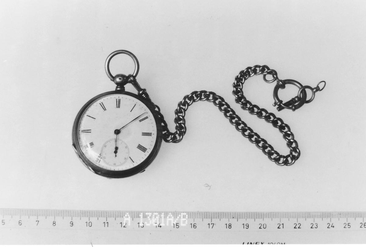 Kartusj på baksiden av uret