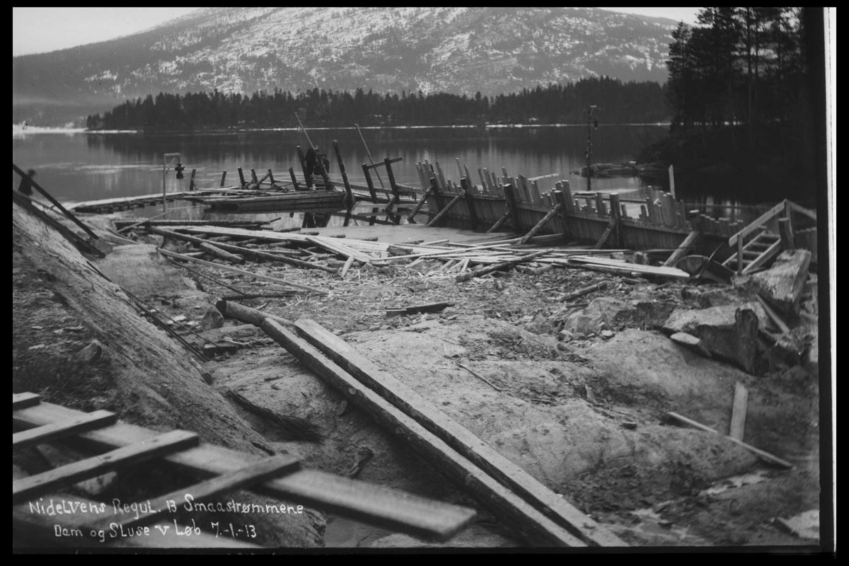 Arendal Fossekompani i begynnelsen av 1900-tallet CD merket 0446, Bilde: 47 Sted: Småstraumene Beskrivelse: Regulering