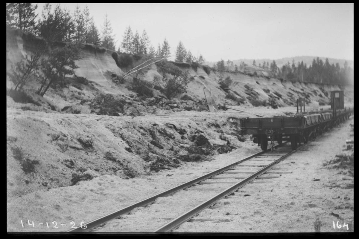 Arendal Fossekompani i begynnelsen av 1900-tallet CD merket 0470, Bilde: 92 Sted: Bjorevja Beskrivelse: Fra sandtaket