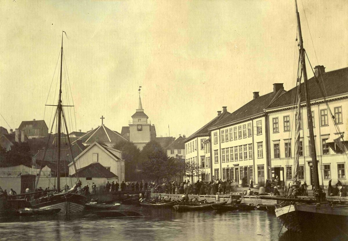 Arendal og omegn - Fra John Ditlef Fürst fotoalbum - Kirkegaten før brannen 1868  - AAks 44 - 4 - 7 - Bilde nummer 52