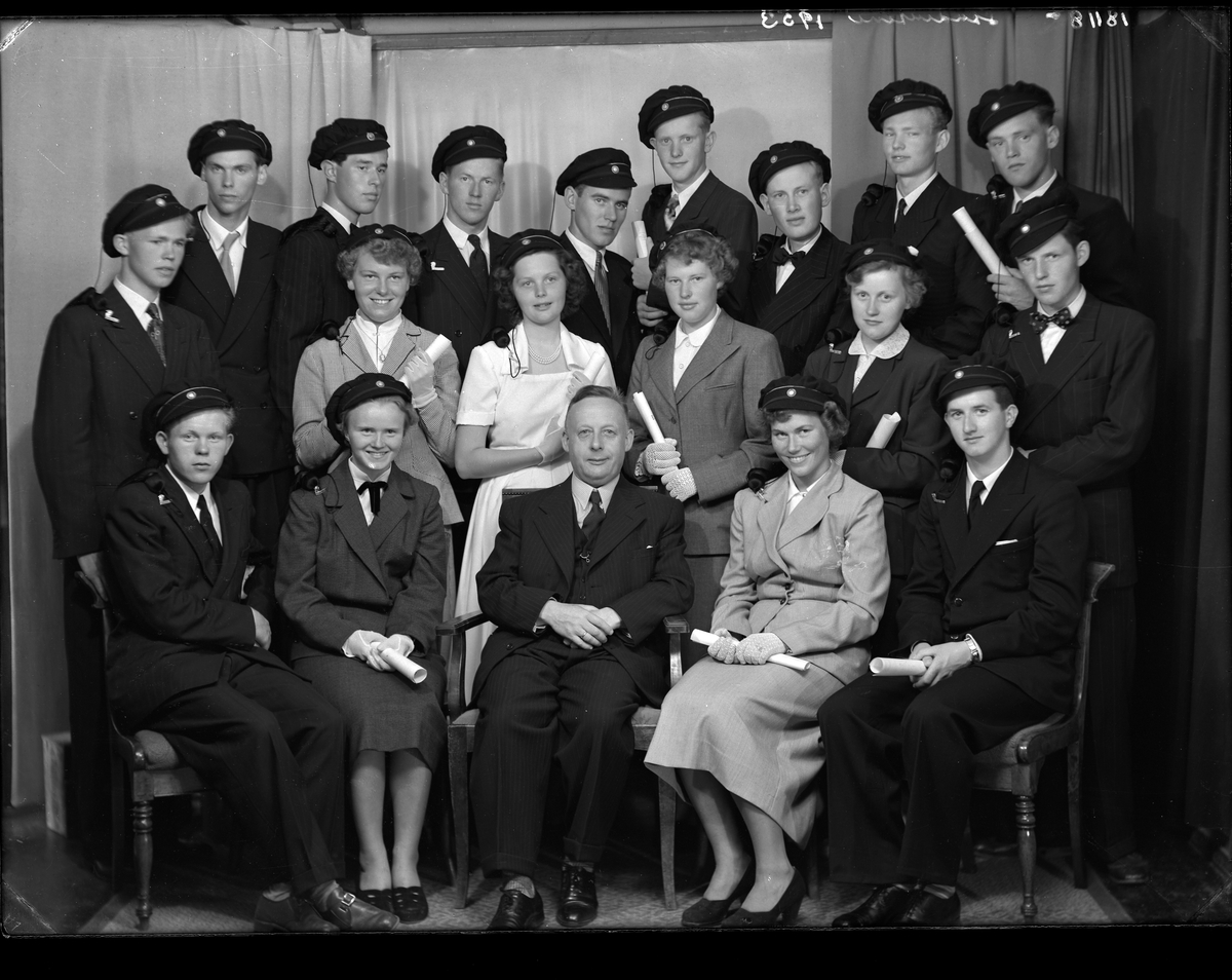 Dahlske skole - Gymnas-studentene i 1953