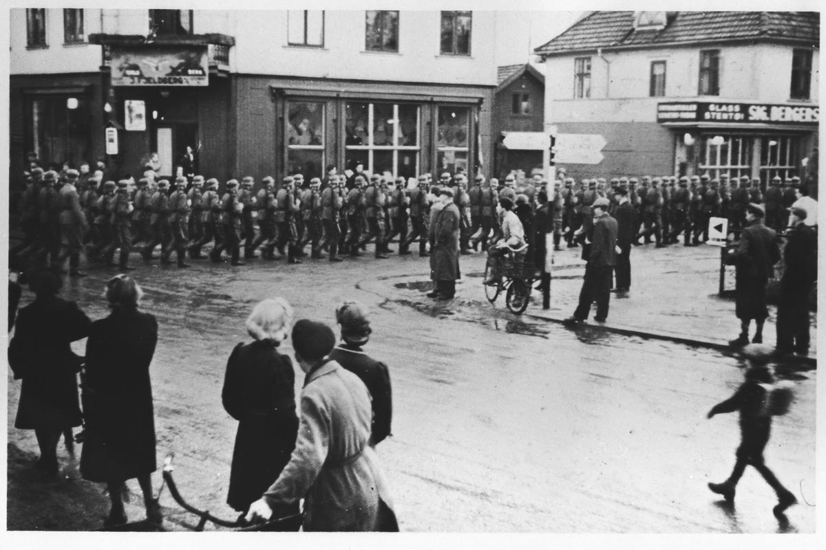 Den 12.april 1940 marsjerte de første tyskerne inn i Lillestrøm