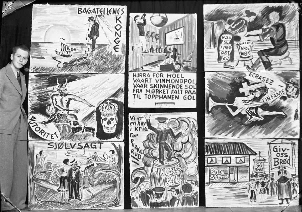 Div. plakater til russetoget i 1937.