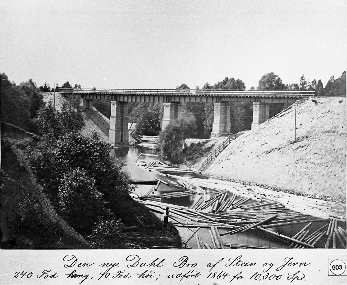 Bygging av jernbanebroer gjennom Eidsvoll