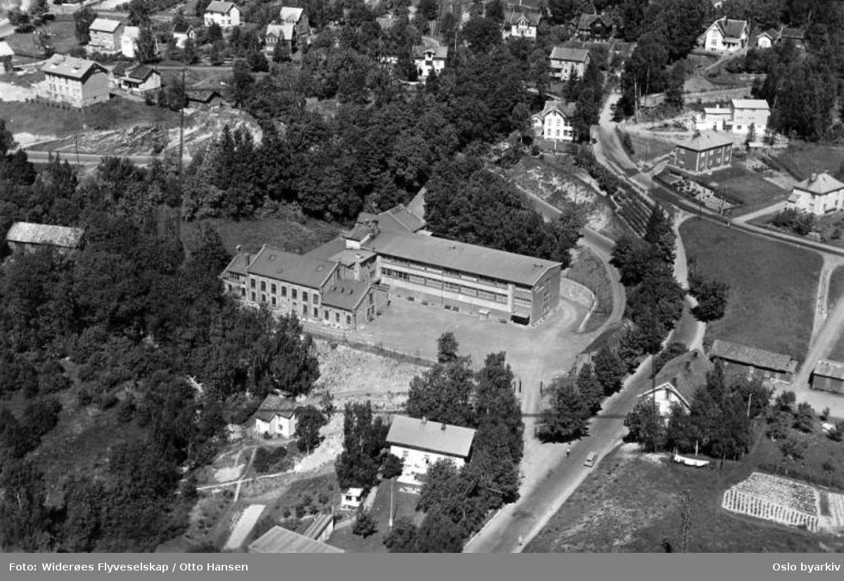 Grorud DFU, Grorudveien, Teppaveien (Flyfoto)