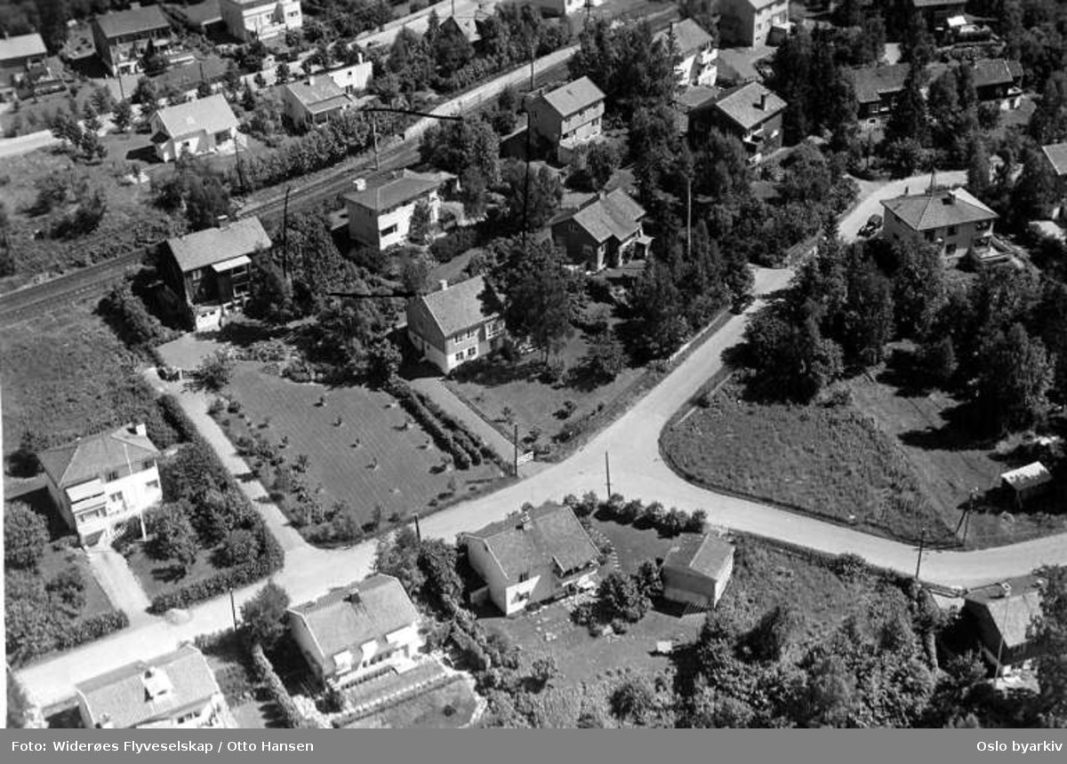 Melumveien, Harald Løvenskiold vei (Flyfoto)