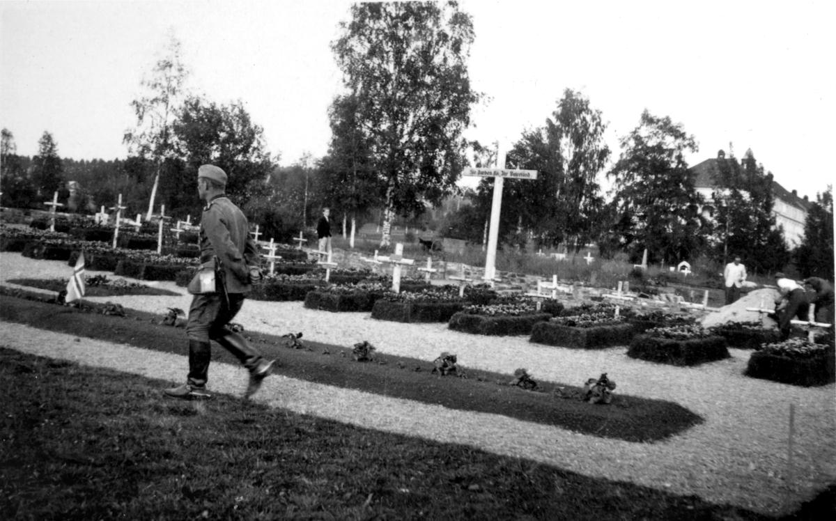 Tysk kirkegård i Leiret