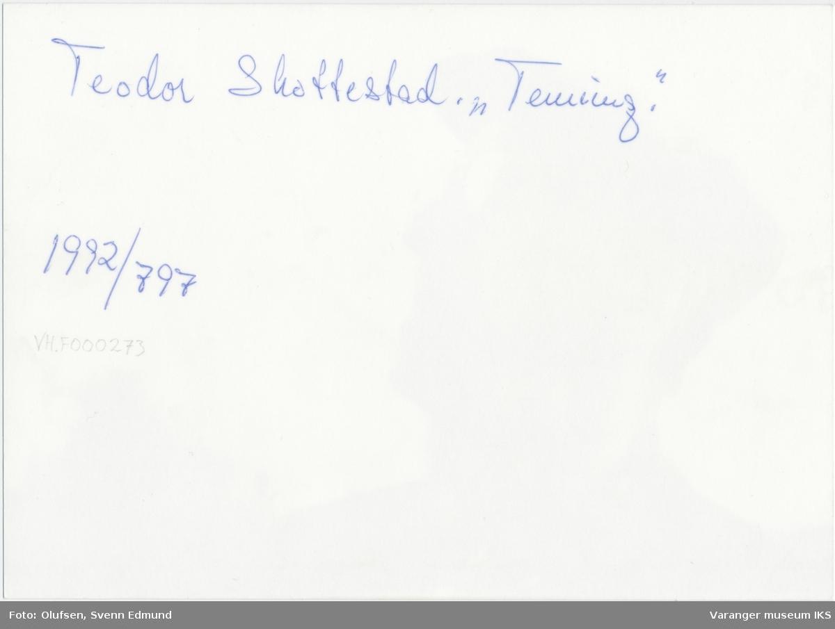 """Portrett, Theodor """"Tenning"""" Skottestad, ca. 1970"""