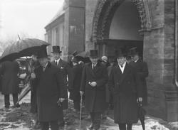 Begravelsen til Halfdan Bryn i Nidarosdomen