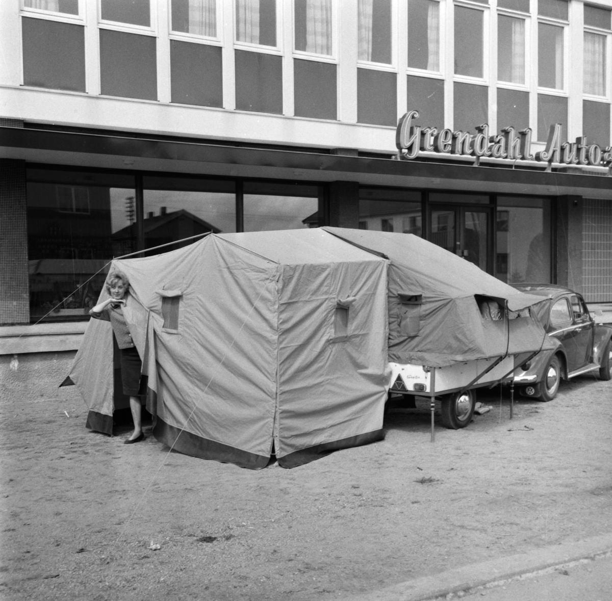 Campingtilhenger ved Grendahl Auto