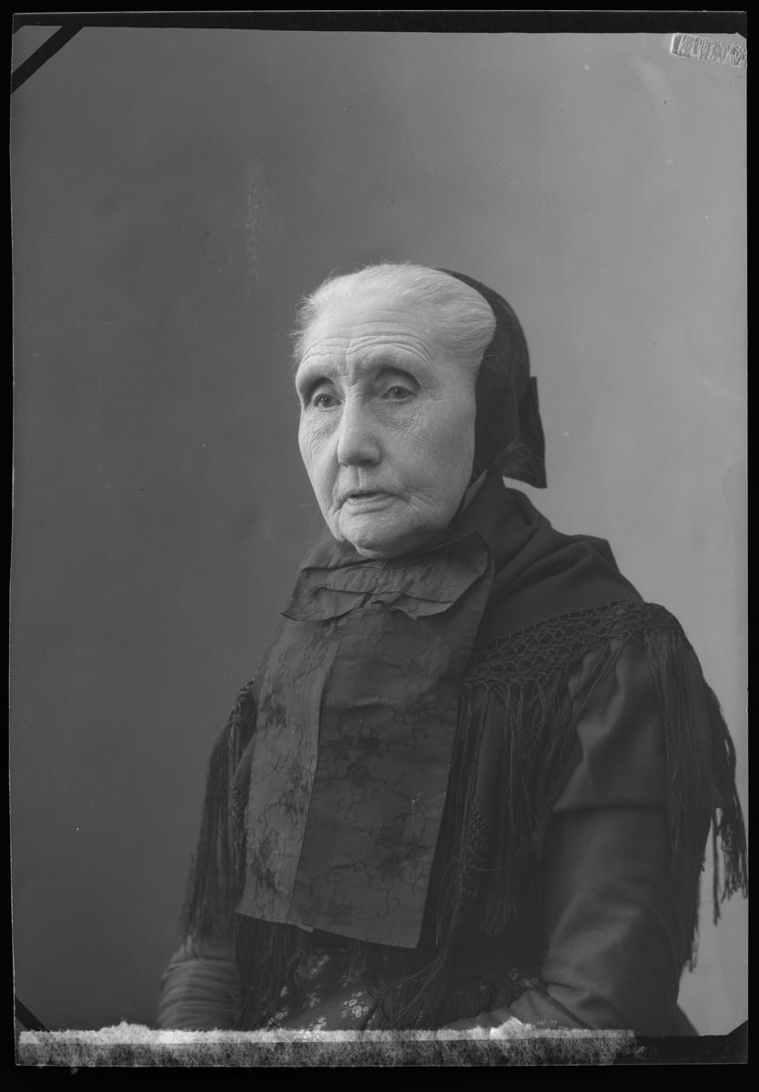 8ce0f707 Portrett av eldre kvinne i tradisjonelle klær fra rørosområdet ...