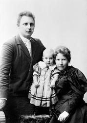 Fra venstre: Kirsten Flagstads far Michael Flagstad, Kirsten