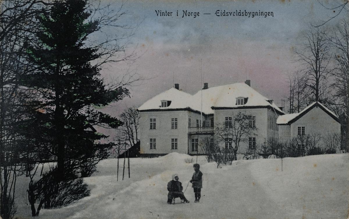 Vinter i Norge, Eidsvoldbygningen, Eidsvoll.
