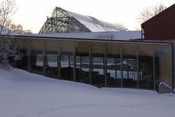 Vernebygg, Sverre Fehn, Hamardomen, Storhamarlåven, vinter