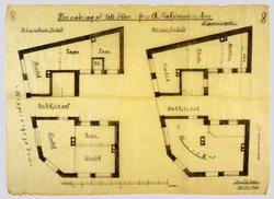 Vaaningshus, tomt ved Keiser Wilhelms gade [Arbeidstegning]