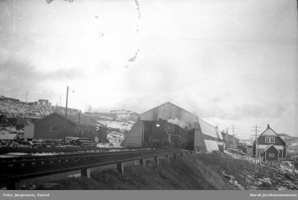 Finse stasjon med snøoverbygg