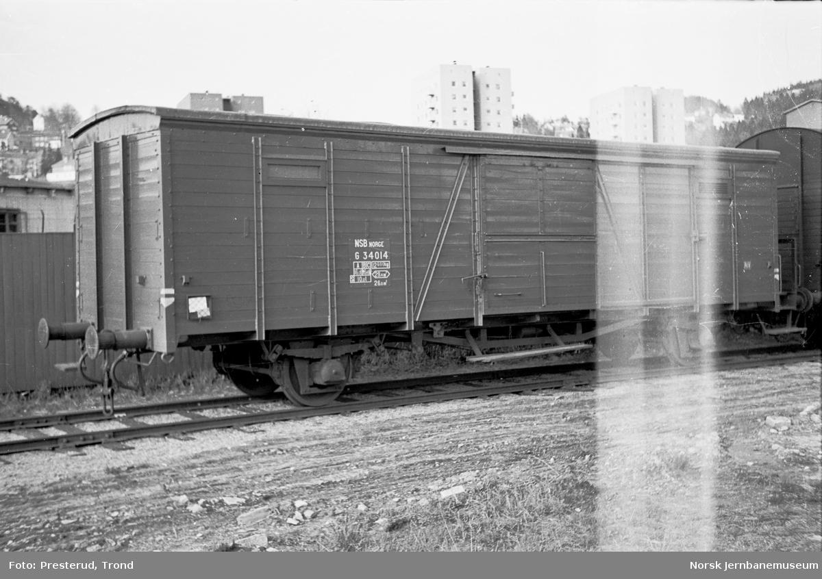 Lukket godsvogn litra G nr. 34014