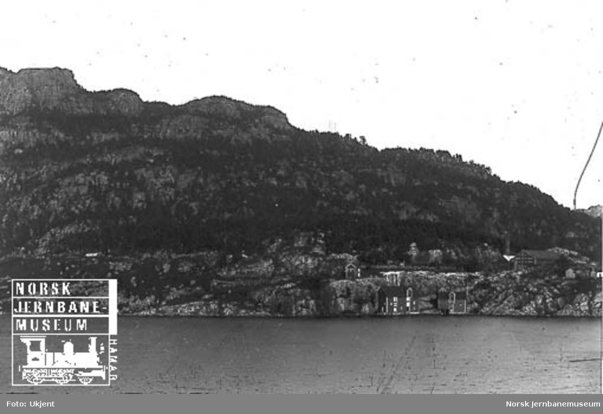 Fra Flekkefjordbanen før anlegget, parti fra Grisefjorden