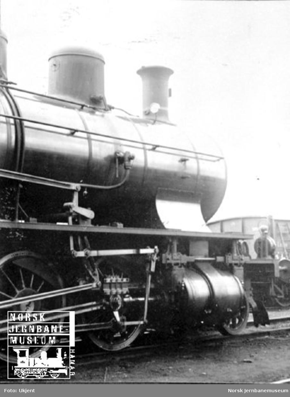 Frontparti sveitsisk damplokomotiv type C4/5 nr. 2612