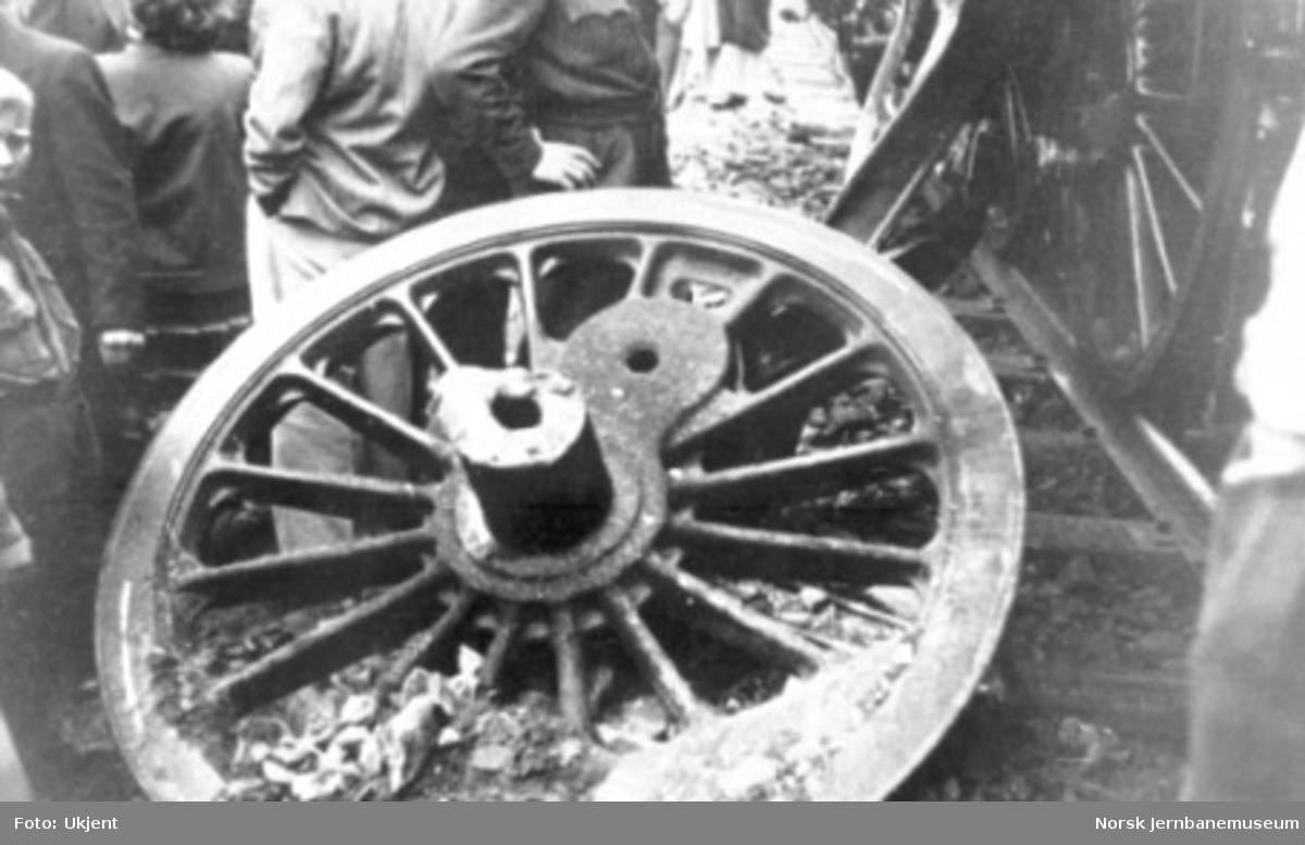 Akselbrudd på damplokomotiv type 49c nr. 472