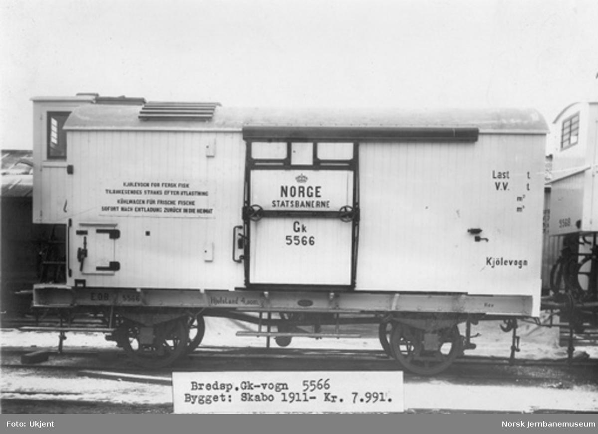 NSB kjølevogn litra Gk nr. 5566 som ny