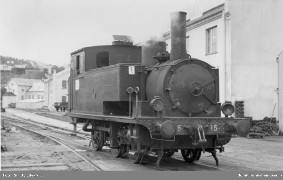 LKAB damplokomotiv nr. 15 i Narvik