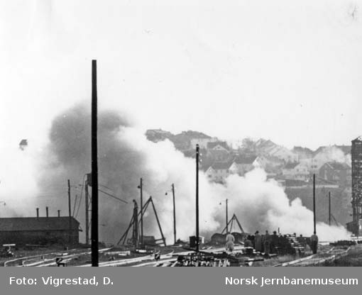 Sprenging av lokomotivstall i Stavanger