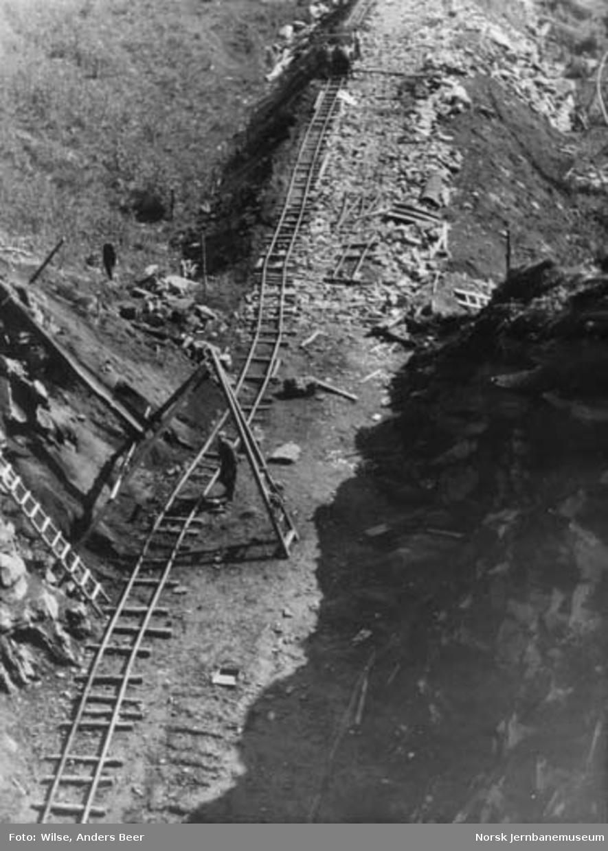 Nordlandsbaneanlegget : forskjæring for Tjønndalen tunnel