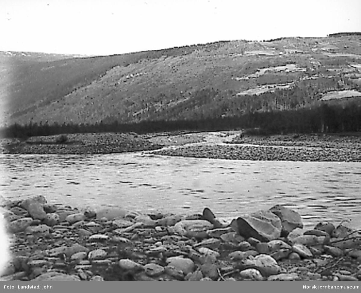 Selsmyrene og Selsbekken etter flommen