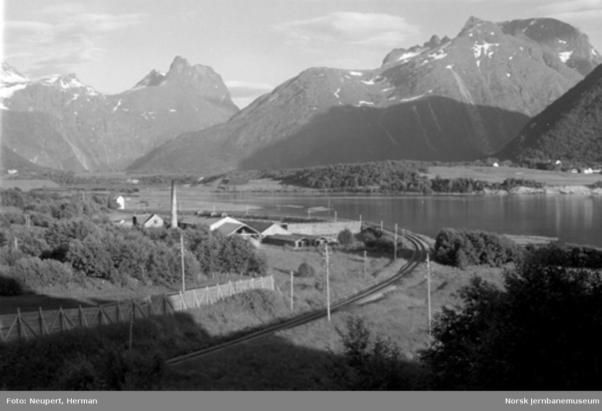 Raumabanens trasé ut fra Åndalsnes