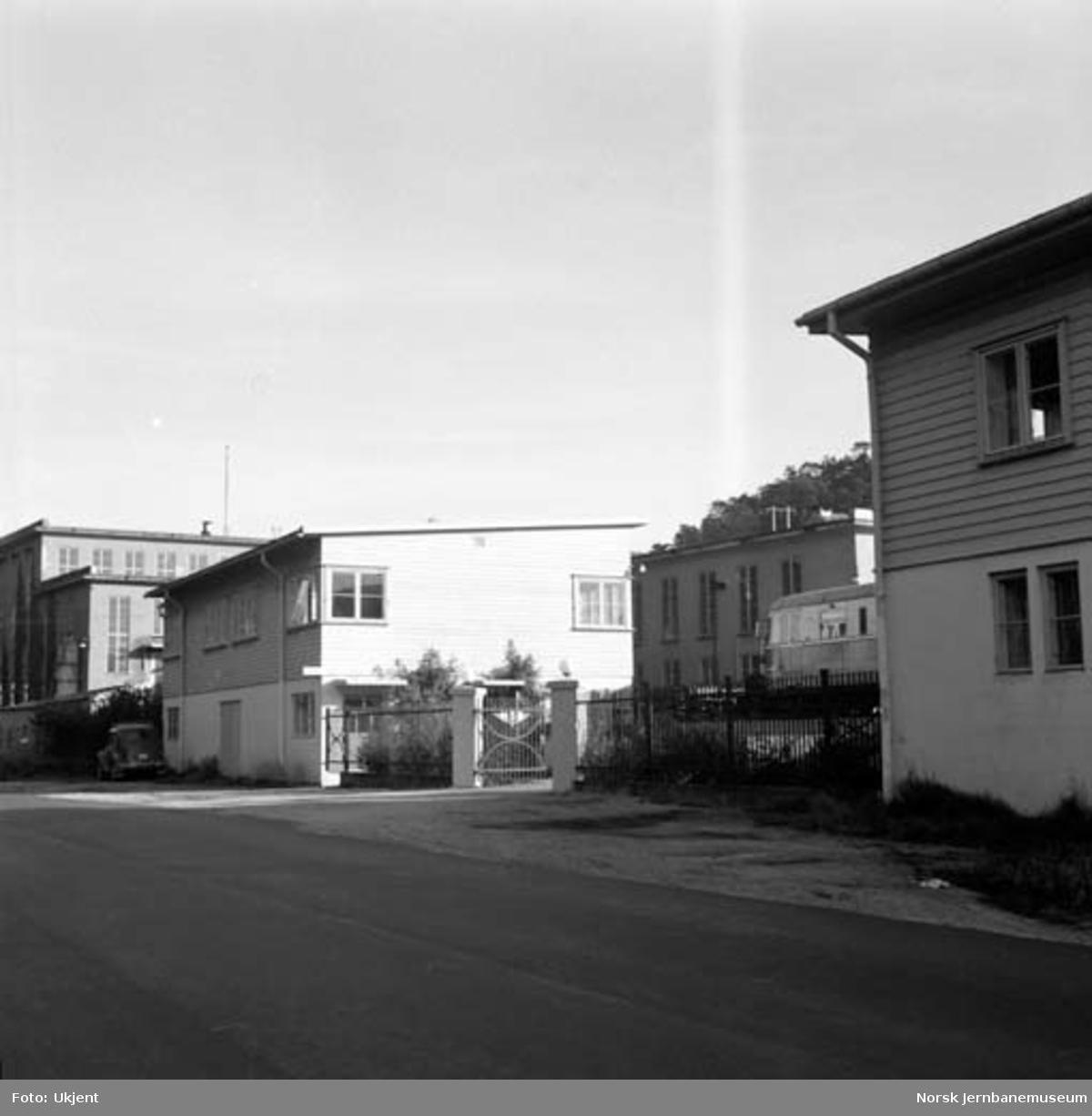 Verkstedet Krossen : inngangen til verkstedet