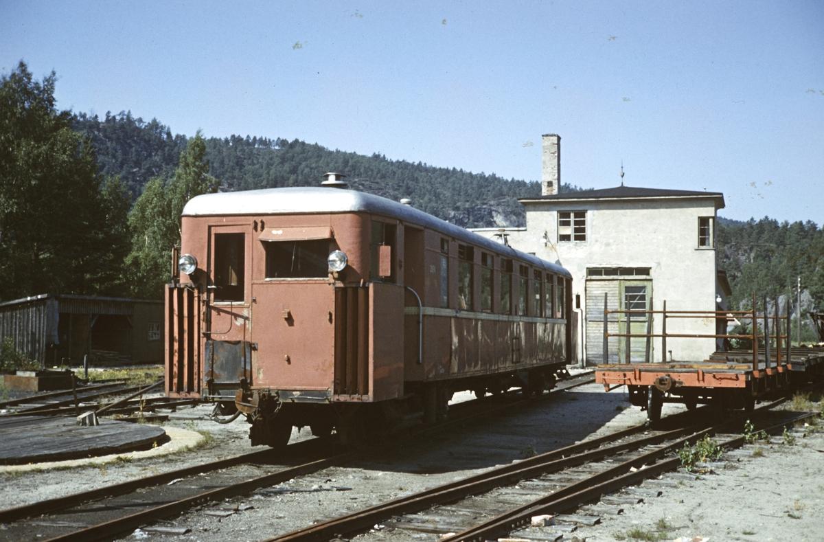 Setesdalsbanens motorvogn Cmb 2674 og T2, trolig nr 260.