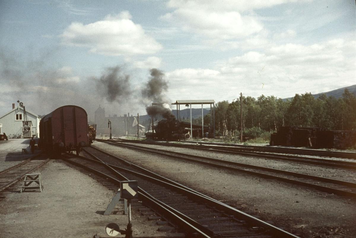 Skifting på Oppdal stasjon