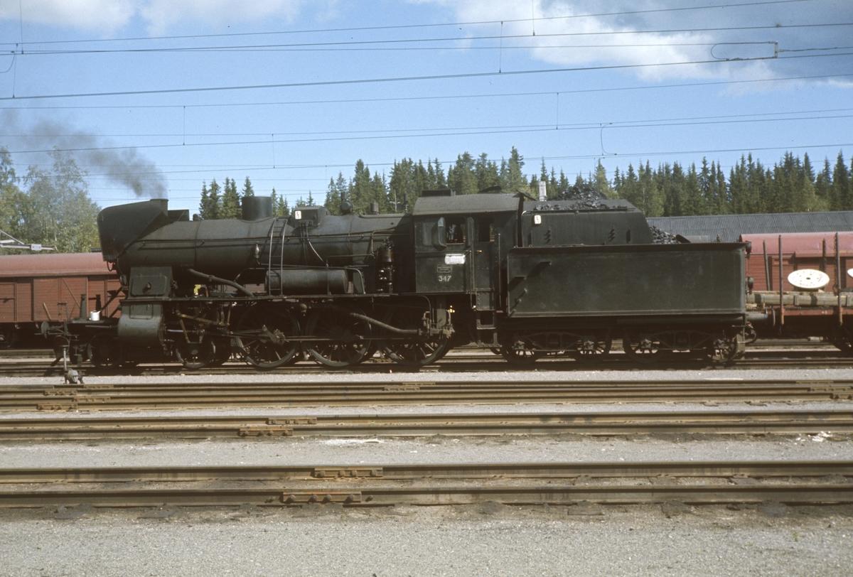 Damplok type 30b nr. 347 på Eina stasjon