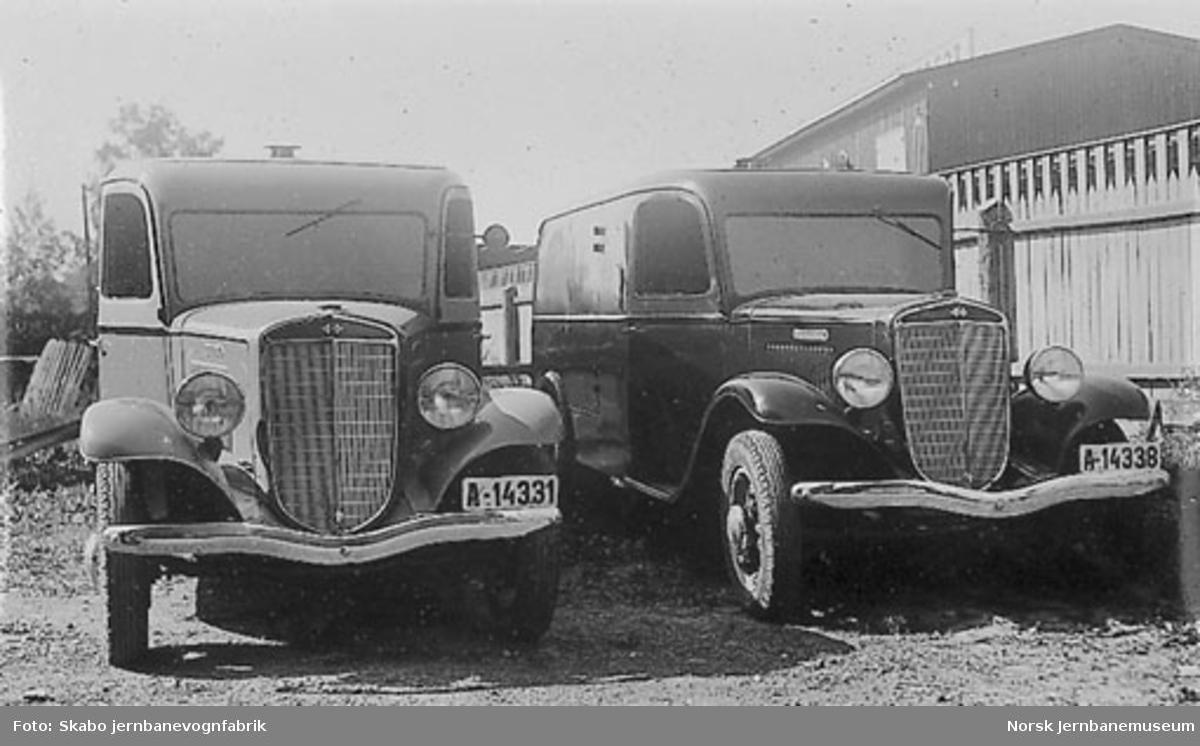 International brødbil A-14331 og A-14338