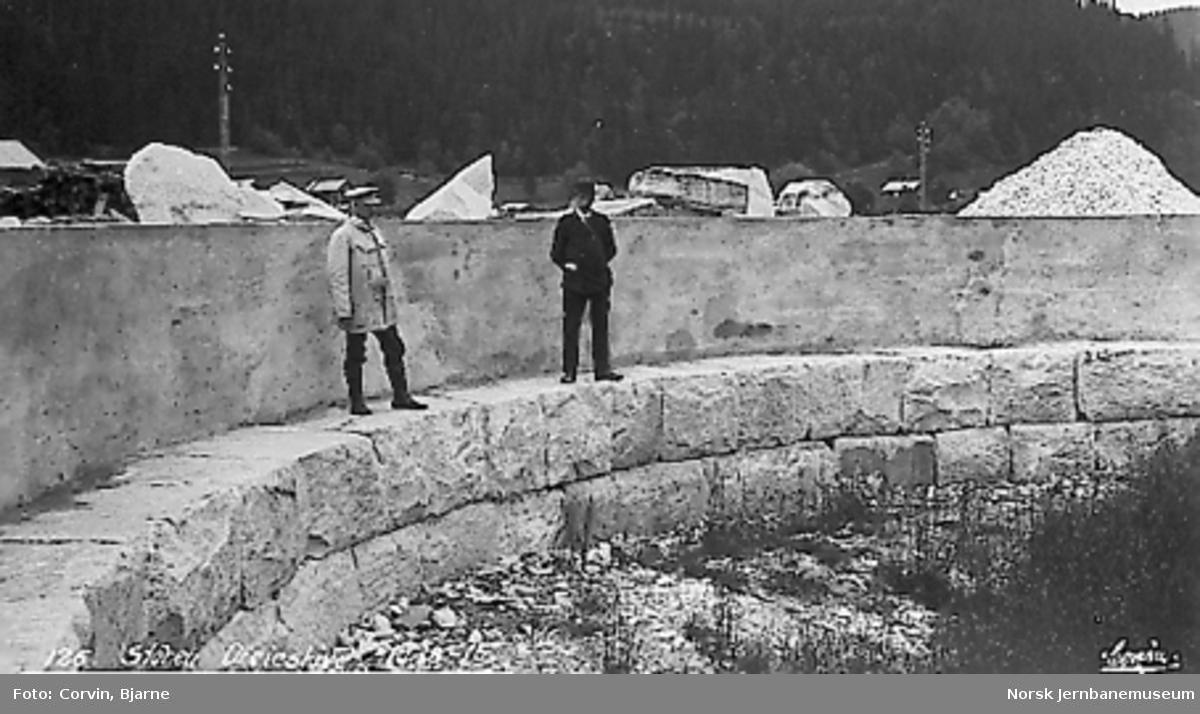 Ferdig fundament og ring for svingskive på Støren stasjon
