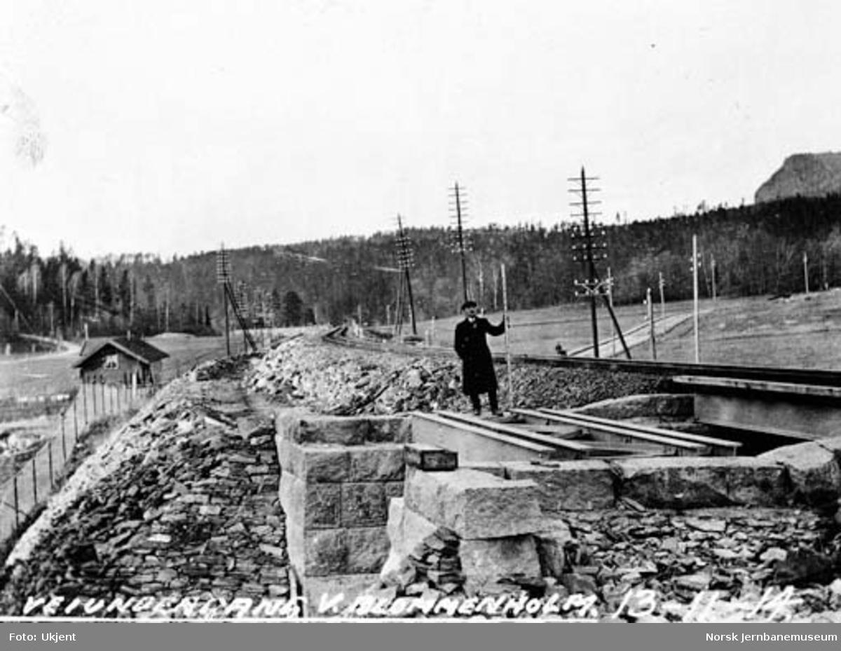 Drammenbanens omlegging : vegundergang ved Blommenholm