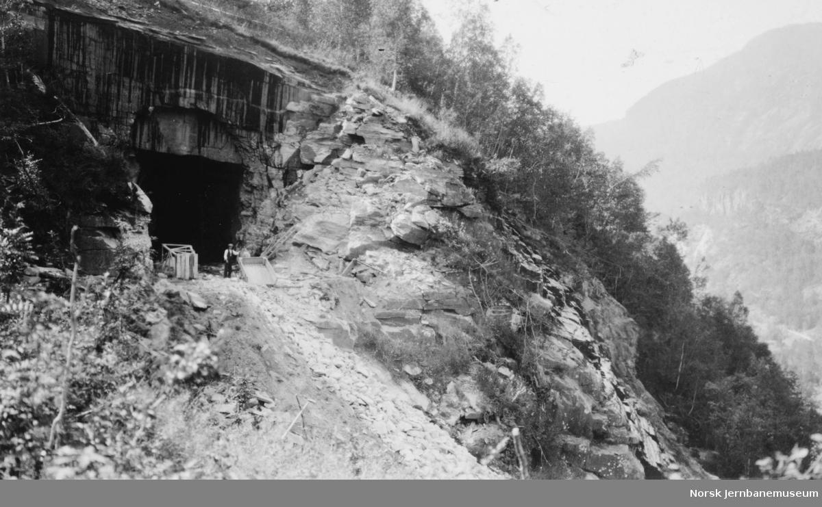 Tunnelinnslag i Skjervet pel 1695