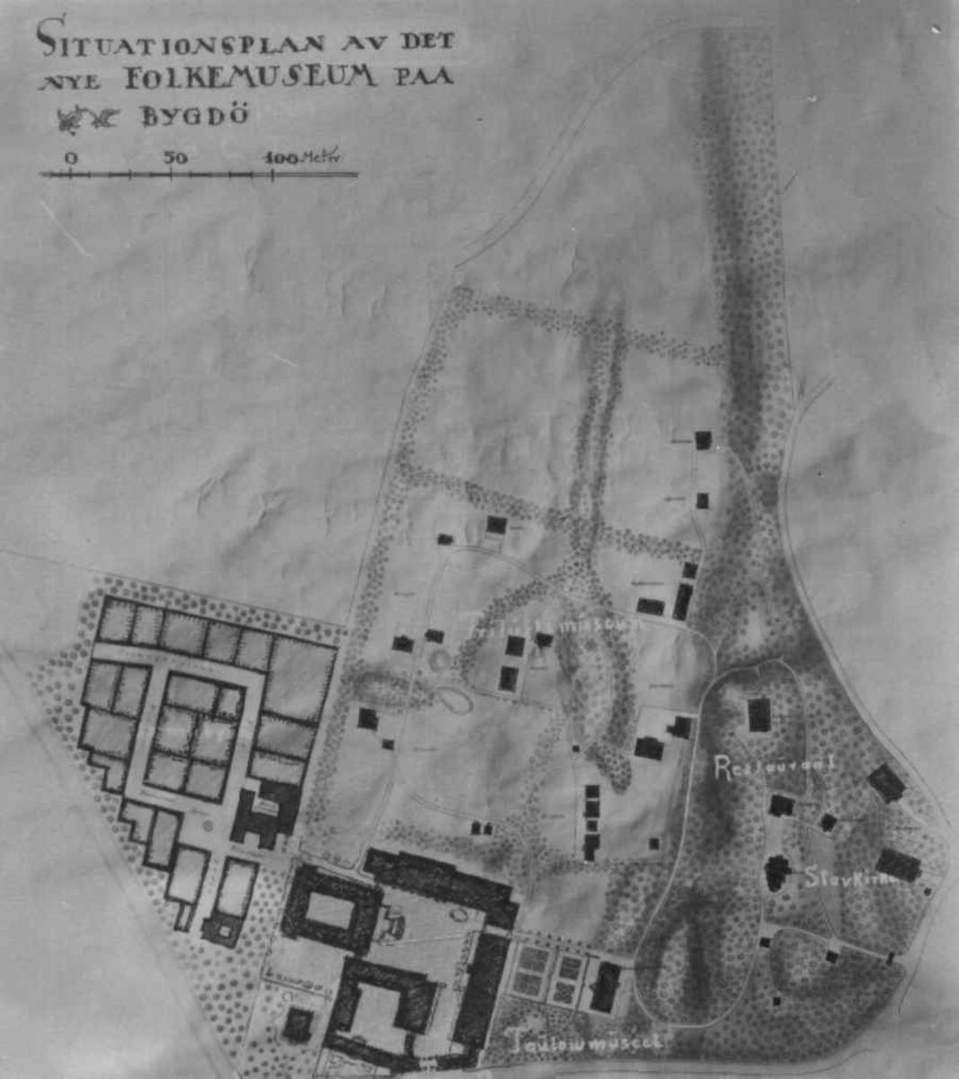 Situasjonsplan fra arikitektene Bjercke og Eliassen.første etasje.