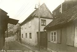 Enerhauggata 4, Oslo. 1924. Murhus fotografert fra gata.
