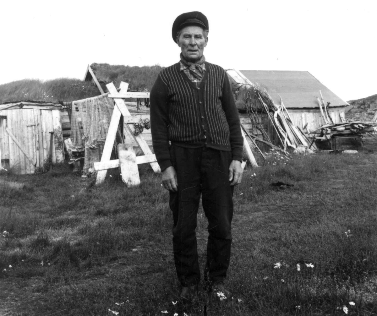 Portrett av Alfred Losoa, småbruker. August 1968.