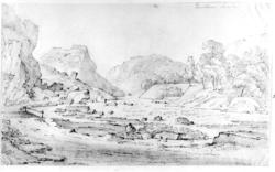 Kvistrum, Båhuslen, Sverige. Fra skissealbum av John W. Edy