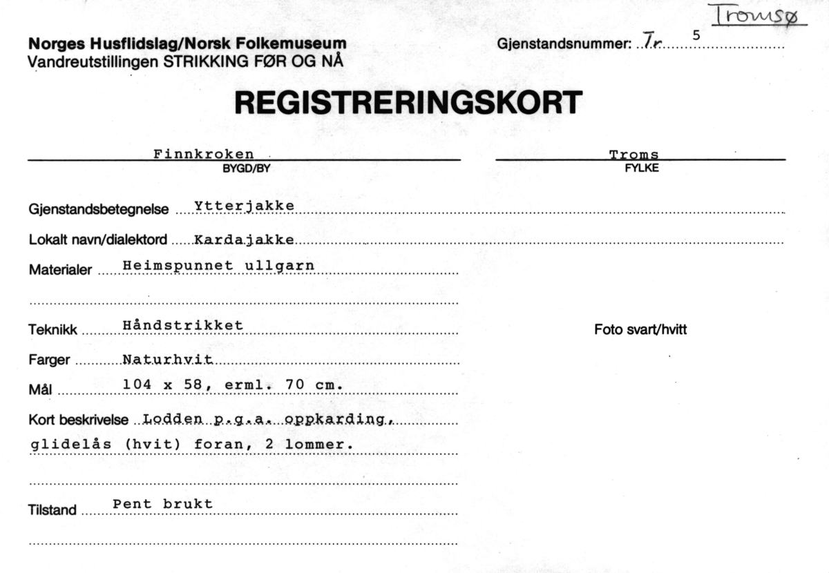 f17c0b2a Strikking, Ytterjakke - Norsk Folkemuseum / DigitaltMuseum