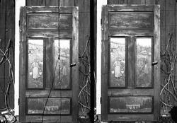 Døra på Holoa seter, Hadeland, Jevnaker, Oppland, april 1906